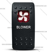 Labeled Contura II Rocker Switch COVER ONLY, Blower (Red Window)