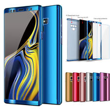 360 Full Plating Case+Screen Cover For Samsung Galaxy S8 S9 Plus S7 Note 8 9 7