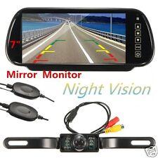 """7"""" TFT LCD Car Rear View Monitor+Wireless Reverse Backup Night Vision Camera Kit"""