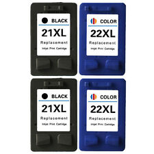 4× Ink Cartridge For HP 21 22 XL Officejet 4315 J3680 Deskjet F4140 F4135 F4185