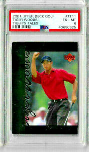 2001 Upper Deck Golf Tiger Woods #TT11 PSA 6