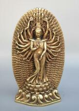 Chinese pure brass thousand hand guanyin crafts statue