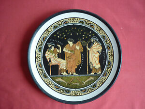 Greek plate showing Poseidon, Aphrodite & Dionysus