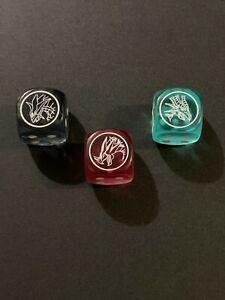 Set of all 3 Dragons of Legend Dice, Tiaeus, Critias and Heromos   YuGiOh
