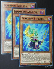 Set 3X DIAPASON SYNKRON DPDG-IT021 Comune in Italiano YUGIOH