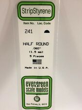 """.060"""" (1.5MM) OD Polystyrene Rod EVG241 by Evergreen Scale Models"""