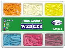 400 pcs Dental Fixing Wooden Wedges for Dental Restoration TOR VM 6 types