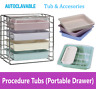 Dental Procedure Operation Tub, Tray Accesories, Dental Tub Rack, Autoclavable