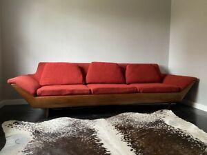 FLEXSTEEL THUNDERBIRD RED VTG in The Style Of Adrian Pearsall Gondola Sofa
