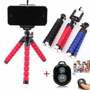 1pc Flexible Phone Tripod Stand Bluetooth Remote Selfie Stick Mount Self-timer B