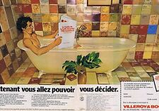 PUBLICITE ADVERTISING 045 1978 VILLEROY & BOCH salle de bain  (2 pages)