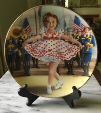 Danbury Mint Collector Plate Shirley Temple Stand Up and Cheer W/Stand Pristine