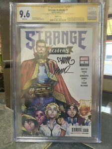 Strange Academy #1 CGC 9.6 3rd PRINT SIGNED BY SKOTTIE YOUNG & HUMBERTO RAMOS