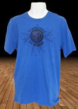 NUOVO Nike Inter Milan Football Club Cotone Tee Shirts benamata Blue M