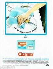 PUBLICITE ADVERTISING 046  1966  le torchon éponge Chamex Spontex