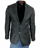 Tallia Men's Slim Fit Geometric Sport Coat Black Gray Size 40 Regular