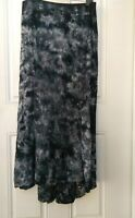 XCVI women M maxi A-Line skirt Tie Dye Elastic Waist Black Gray