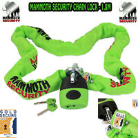 MOTORCYCLE CHAIN LOCK MAMMOTH 1.8M SOLD SECURE APPROVED MOTORBIKE CAT3 SECURITY