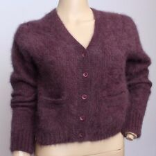 VTG Carole Little St. Tropez West Neiman Marcus 100% ANGORA Cropped Sweater S M