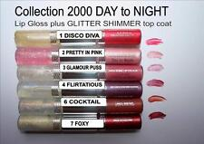 Collection 2000 2 Step Lip Gloss Day to Night Glitter Shimmer Top Coat Lipgloss 3 Glamour Puss