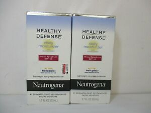 2 NEUTROGENA HEALTHY DEFENSE DAILY SPF 50 MOISTURIZER 1.7 OZ  EXP:12/21+JL 12685