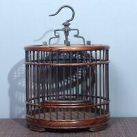 Collect noble Old natural rosewood wood handmade carving delicate bird cage