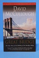 Great Bridge by David McCullough New York Brooklyn Bridge Engineering & History