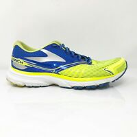 Brooks Mens Launch 2 1101881D702 Blue Yellow Running Shoes Lace Up Size 8.5 D