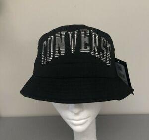 CONVERSE Logo Black Bucket Hat / Cap One Size OSFA 10019855-A01 NEW
