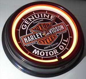 HARLEY DAVIDSON MOTORCYCLES THEMED CLASSIC RETRO LED SILENT WALL CLOCK