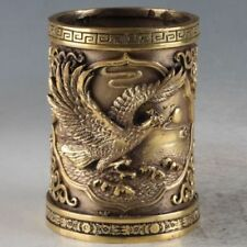 Chinese OLD Brass Brush Pot Made During The Da Ming Xuande Mark