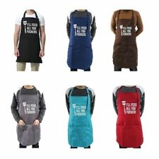 2pcs Funny Apron For Men, I'll Feed All You, Guys BBQ Cooking Grill Aprons Well
