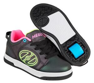 Heelys Voyager Skating Shoes - Black / Reflective / Yellow / Pink + Free DVD