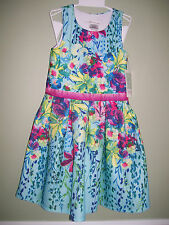 Bonnie Jean Girls Flower Aqua Floral Dress Size 6 NEW NWT