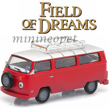 GREENLIGHT 44690E FIELD OF DREAMS 1973 73 VW VOLKSWAGEN BUS TYPE 2 1/64 RED