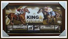 Black Caviar & Phar Lap King & Queen of the Turf Official Licensed Print Framed