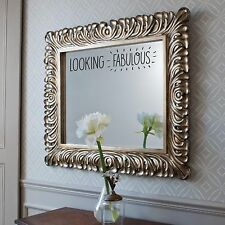 LOOKING FABULOUS MIRROR STICKER Bathroom Bedroom Funny Compliment Cute Wall Art