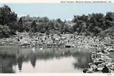 Postcard Pa Elizabethtown Masonic Home Rock Garden Lancaster County Linen 40s