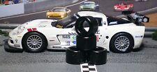 """Soft"" SLOT CAR TIRES 2pr PGT-20125LM fit SCX F550 C6R DBR9 911 DTM LMP FXX F360"