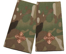 PAIR OF MULTICAM MTP OFFICIAL 2ND LIEUTENANT RANK SLIDES 100% COMPATIBLE PATCH