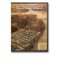 57  Rare Historic Civil War Maps of AL, AR, IL, KY, LA  -  CD - B1