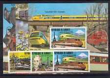 Dschibuti 300/02 Bl. 36/38 postfrisch / Eisenbahn .....