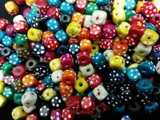 80 MIX COLOR 9x10mm WOOD SQUARE BEADS  DIY PARROT BIRD FOOT TOY PARTS