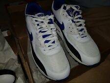 2012 Nike Air Max 90 Black/White/Game Royal Leather Running Shoes Size 13