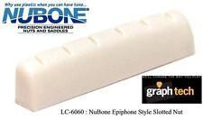 GRAPH TECH NUBONE TUSQ EPIPHONE STYLE SLOTTED NUT LC-6060