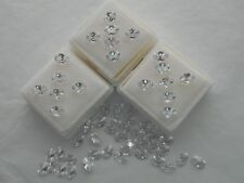 6x 4mm oval white cubic zirconia CZ 4 for £1.00p.