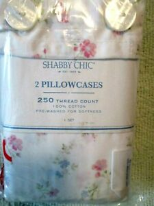 New Shabby Chic Cotton Candy King Pillowcase Set