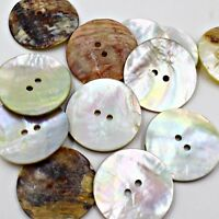 Lot 20 48L 30mm Real Shell Button Agoya MOP MOTHER OF PEARL Trench Coat Jacket