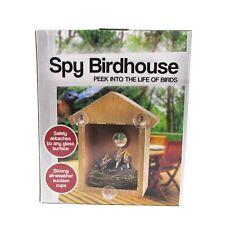 Spy House Two way Mirrored Bird House - Suction Cup Window Mounted Bird Watch