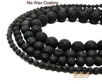 Lava Stone Natural Volcano Beads Round Grade AAA uncoated 4mm 6mm 8mm 10mm Lava